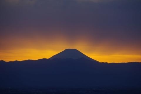 後光差す富士山2