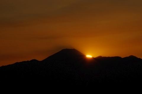 沈みそうな太陽