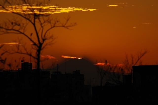 太陽が隠れる瞬間
