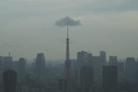 東京タワーに引っかかった雲の魚