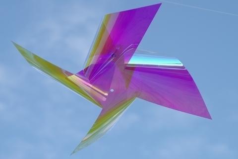 青空に風車2