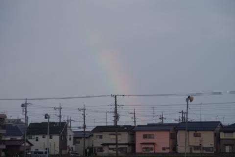足元だけの虹
